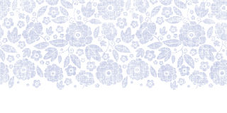 Purple textile flowers texture horizontal seamless Stock Photos