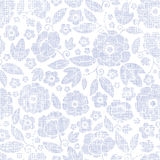 Purple textile flowers texture seamless pattern Stock Photos