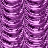 Purple textile frilled drapery seamless pattern texture Royalty Free Stock Image