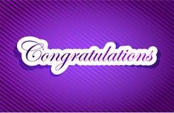 Purple texture congratulations illustration Stock Images