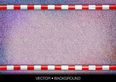Purple texture. Red and white tape over purple texture royalty free illustration