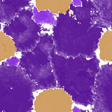 Purple texture. Vector murble background. Watercolor hand drawn marbling illustration. Stock Images