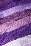 Purple thread embroidery floss Stock Images