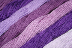 Purple thread embroidery floss Royalty Free Stock Image