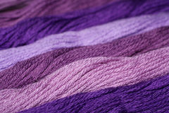 Purple thread embroidery floss Royalty Free Stock Images
