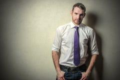 Purple tie Stock Image