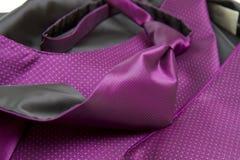 Purple tie and vest. Groom's purple silk vest Royalty Free Stock Photo