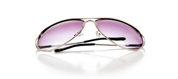 Purple tinted sun shades on a white background Royalty Free Stock Photo