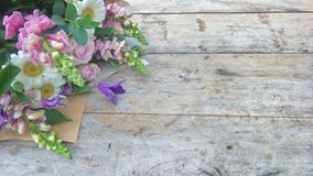Purple tone Flower bouquet Royalty Free Stock Photos