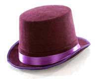 Purple top hat. Isolated on white background Stock Photo