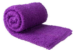 Purple towel Stock Images