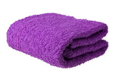 Purple towel Royalty Free Stock Photo