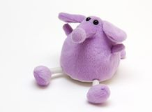 Purple Toy Elephant. Against the Light Background Royalty Free Stock Photography