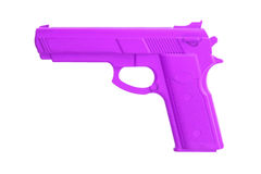 Purple training gun isolated on white Royalty Free Stock Photography