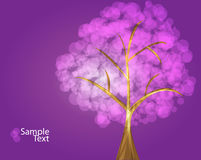 Purple tree  Royalty Free Stock Images