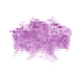 Purple Triangle Abstract Background. Vector Pattern of Colored Geometric Shapes Stock Photos
