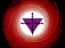 Purple triangles religious persecution Royalty Free Stock Images