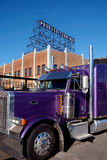 Purple truck Royalty Free Stock Images