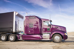 Purple Truck. Ready to be USed again Stock Images