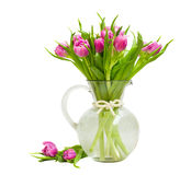 Purple tulips bouquet Stock Photo