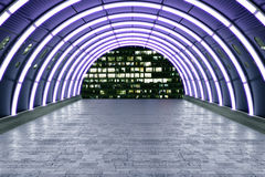 Purple tunnels Royalty Free Stock Photography