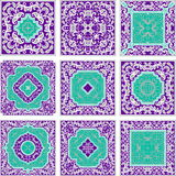 Purple and turquoise patterns Stock Photography