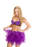 Purple tutu with spikes Royalty Free Stock Photography