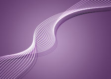 Purple twirl. Digitally created background with white twirls on purple Stock Photography