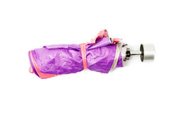 purple umbrella Stock Images