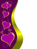 Purple Valentines Illustration Royalty Free Stock Image