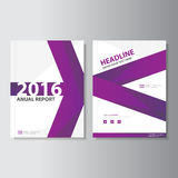 Purple Vector annual report Leaflet Brochure Flyer template design, book cover layout design, Abstract purple template. Purple Vector annual report Leaflet stock illustration