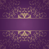 Purple  vector baroque flowers background Royalty Free Stock Image