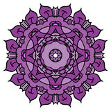 Purple vector mandala.  round element. Royalty Free Stock Photo