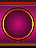 Purple Vector Poster Background. Vector background design with circles, radials and stripes in purple and orange stock illustration