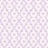 Purple vector seamless pattern with stars stock illustration