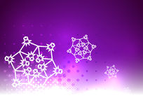 Purple vector snow Christmas background Stock Photo