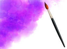 Purple vector watercolor cloud with realistic Royalty Free Stock Photography