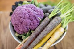 Fresh colorful vegetables. Purple vegetables for healthy eating Royalty Free Stock Photography