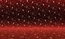 Purple velvet background with gold stars. Colorful texture.  royalty free illustration