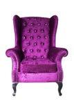 Purple velvet sofa isolated on white background Royalty Free Stock Images