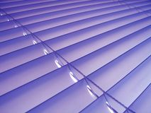Purple Venetian Blinds. Pastel purple venetian plastic blinds Royalty Free Stock Photo