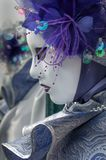 Purple Venice Mask. Purple venice carnival mask flower gem Royalty Free Stock Photography