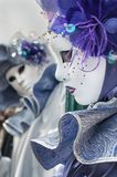 Purple Venice Mask. Purple venice carnival mask flower gem Royalty Free Stock Images