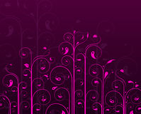 Purple vine design Stock Images