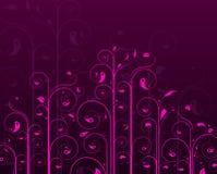 Purple vine design Stock Images