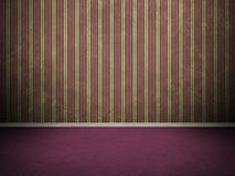 Purple vintage 3D interior Royalty Free Stock Images