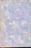 Purple Vintage Print Book End Paper. Purple and blue colored vintage book end paper. Showing worn edge crease texture. Image is oriented in portrait stock images