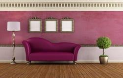 Purple vintage room Royalty Free Stock Photos