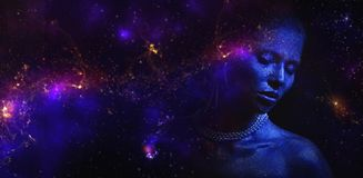 Purple, Violet, Atmosphere, Nebula Royalty Free Stock Image