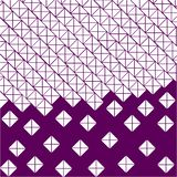 Purple, violet background of white squares and triangles stock illustration
